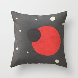 Red- Space is Hot Throw Pillow