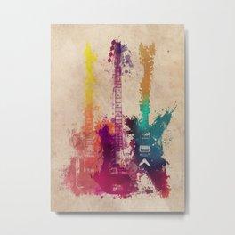 guitars 2 Metal Print