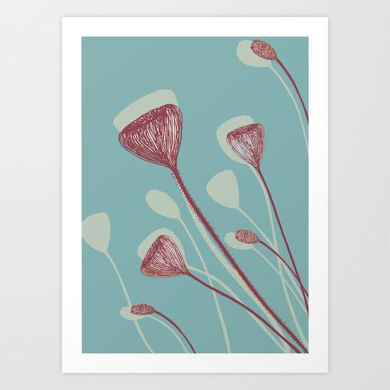 Organic shape Art Print