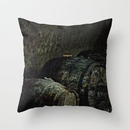Barrels dark painterly Throw Pillow