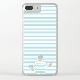 Universal painter Clear iPhone Case