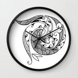 Creation in Black Wall Clock