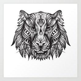 Mandala Tiger Art Print