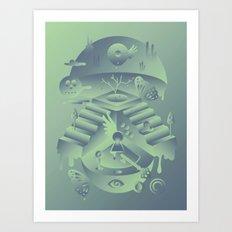 Geometromorphic Memory Art Print