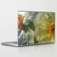 peonies Laptop & iPad Skins featuring Peonies by karrenn