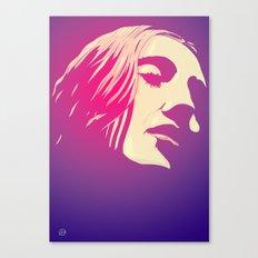 Lady in purple Canvas Print