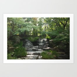Waterfall at Kokoen Garden in Himeji Art Print