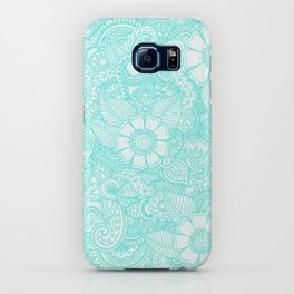 Henna Design - Aqua iPhone Case