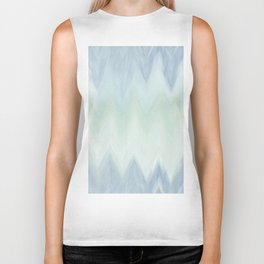 Modern geometrical pastel blue mint green watercolor ikat Biker Tank
