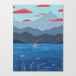 Summer Swim Canvas Print