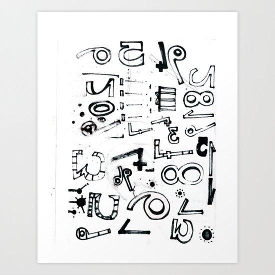 TYPO CHAOS Art Print