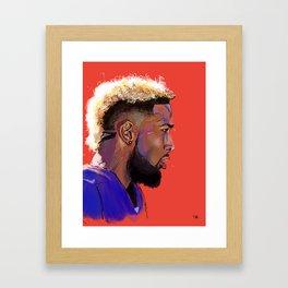 Odell Beckham Jr. Framed Art Print