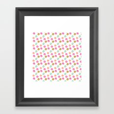 Girly Glam Watercolor Dots Framed Art Print