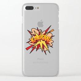 Comic Book KA-POW! Clear iPhone Case
