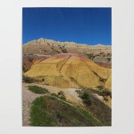 Colorful Badlands Landscape Poster