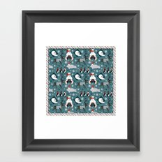 The cold never bothered me anyway Framed Art Print