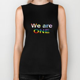 Couple Matching T-Shirt We Are One Pride Gay Lesbian Gifts Biker Tank