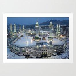 The Hajj is an annual Islamic pilgrimage to Mecca, Saudi Arabia - the holiest city for Muslims Art Print