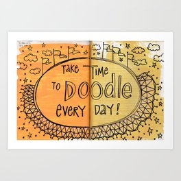 Doodle Everyday Art Print