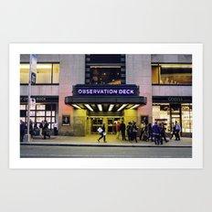 Observation Deck. Art Print