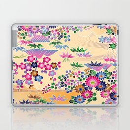 SUMI WITH PINK FLOWERS Laptop & iPad Skin
