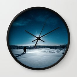 Guided by Moonlight Wall Clock