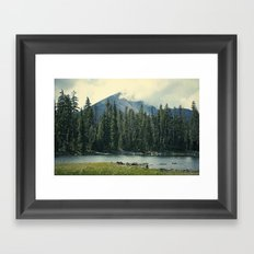 Mt Mcloughlin Framed Art Print