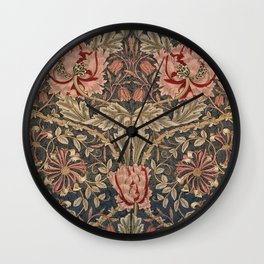 William Morris Honeysuckle Tuscany Italian Textile Floral Pattern Wall Clock