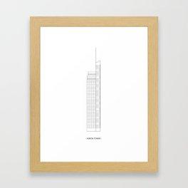 Heron Tower Framed Art Print