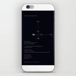 Measuring Gravitational Waves iPhone Skin