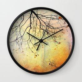 november gold Wall Clock