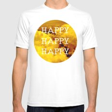 Happy Happy Happy II Mens Fitted Tee White MEDIUM
