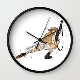 Jurassic Park Pin-Ups ~ Robert Muldoon Wall Clock