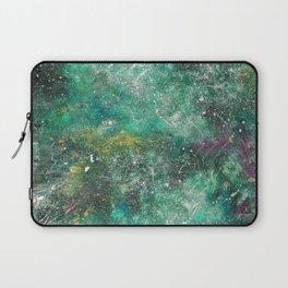 A galactic ocean -Green- Cosmic Painting Art Laptop Sleeve
