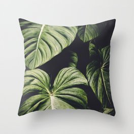 Monstera Madness Throw Pillow