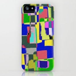 Raw Paint 3 - Colour Abstract iPhone Case
