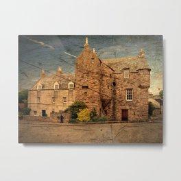 Fordyce Scotland Wee House Wood Effect Metal Print