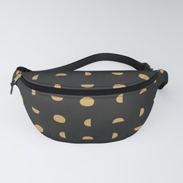 Desert Moon in Black and Gold Fanny Pack