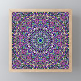 Happy Bohemian Jungle Mandala Framed Mini Art Print