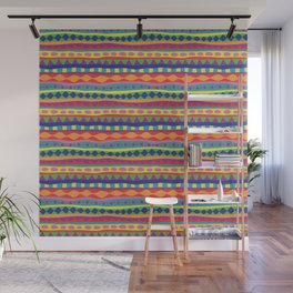 Stripey-Crayon Colors Wall Mural