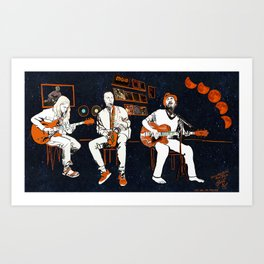 Once in a Blue Blood Moon Art Print