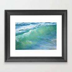 Teal Surf Framed Art Print