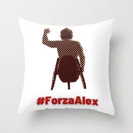 #ForzaAlex Show Support for Zanardi Throw Pillow
