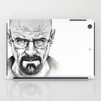 walter white iPad Cases featuring Walter White by 13 Styx