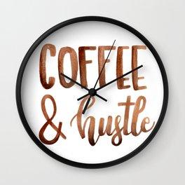 Coffe and Hustle Wall Clock