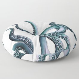 Kraken Teal Floor Pillow