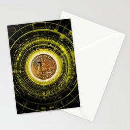 Bitcoin Blockchain Cryptocurrency Stationery Cards