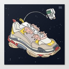 space sneaker 3 Canvas Print