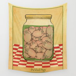 Pickled Pig Revisited Wall Tapestry