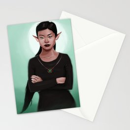 Amara the Elf Stationery Cards